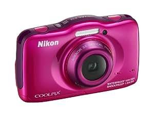 Nikon Coolpix S32 Fotocamera Digitale Compatta 13.2 Megapixel, Zoom 3x, 3200 ISO, LCD 3 Pollici, Full HD, Rosa [Nital card: 4 anni di garanzia]