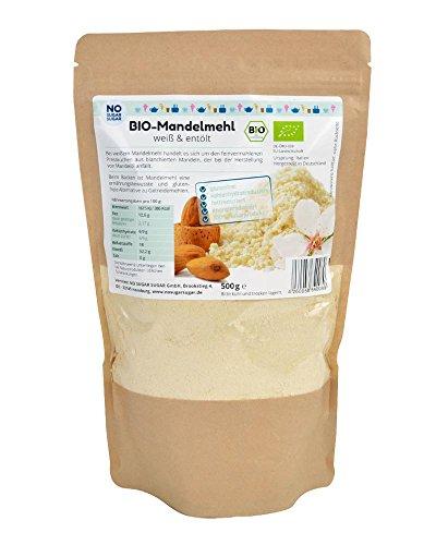 NO SUGAR SUGAR | Weißes Bio-Mandelmehl (500 g) entfettet/entölt Low-Carb
