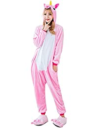 ZYCX123 Ropa de mujer pijama rosado del unicornio-L 2ea69797c2e3