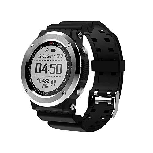 ZKKZ Smart Armband Schrittzähler Outdoor Multi-Sport-Modus Ink Screen Armband Bluetooth Anruf Tiefe Wasserdichte Smart Watch (Farbe : Silber grau)