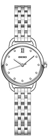 Ladies Womens Seiko Stainless Steel Solar Watch on Bracelet with