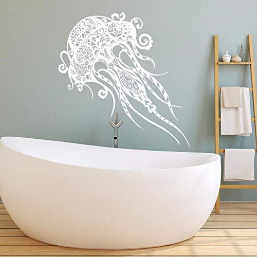 Pbldb 36X60 Cm Wandtattoo Mandala Jelly Fish Animal Wandaufkleber Badezimmer Modernes Design Home Decor Abnehmbare Diy Kindergarten Kunst -