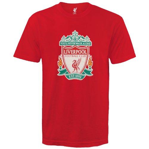 Liverpool F.C. - Camiseta de manga corta para niño, diseño de equipo Liverpool rojo rosso Talla:12-13 años
