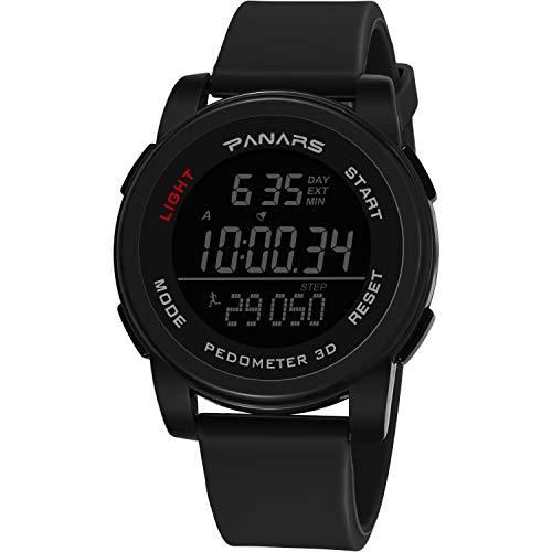 Pottoa Herren Damen Sportuhr   Fitness Analoge Armbanduhr   Mode Herrenuhr mit Wasserdicht Running Step Counter Sport Elektronische Uhr