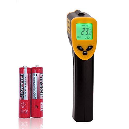 Infrarot Thermometer, Laser Digitale Temperaturpistole küchenthermometer Handheld-Thermometer -Temperatur-Pistole -50 bis +380°C(-58 bis 716°F) Kühlschrankthermometer Berührungslose Thermometer