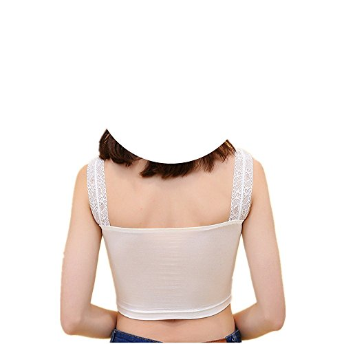 Meiyaa Damen Unterhemd Weiß
