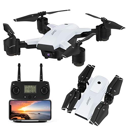 INKPOT JJRC GPS Drohne H78G 5G WiFi FPV Rc Faltbare Drohne mit 1080P HD Kamera Live Video RC Quadrocopter mit Follow me, Smart Return Home, Dual Control Modus Faltbare Drohne für Erwachsene (Weiß)
