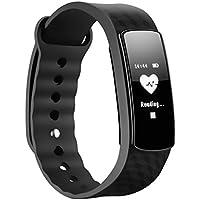 SMART Bracelet, Mpow moniteur de fréquence cardiaque Smart Fitness Bracelets d'activité podomètre Bracelet sommeil tracker écran tactile étanche Smartwatch pour Android et iOS téléphones intelligents tels que l'iPhone 7/7Plus/6S/6/6Plus/5/5S/SE, Huawei Mate 7/P9, LG, Sony, Noir