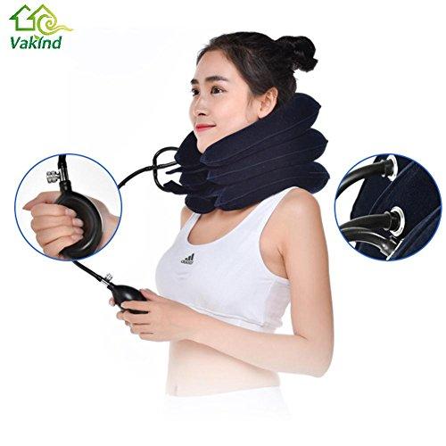 Luft Aufblasbare Kissen Zervikale Hals Kopfschmerzen Traktion Unterstützung Weiche Klammer Gerät für Kopf Rücken Schulter Nackenschmerzen Gesundheitswesen