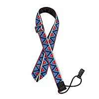 Ukulele Strap with Hook Adjustable Soft Ukulele Neck Strap for Small Guitar No Need Nails ( Blue and Red)