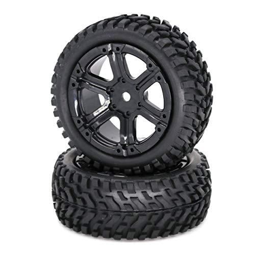 MXECO 1/16 Telecomando Car Flat Sports Car Rally Tire Car Racing Drift Arrampicata Modifica auto Accessori di aggiornamento 75Mm (Nero)