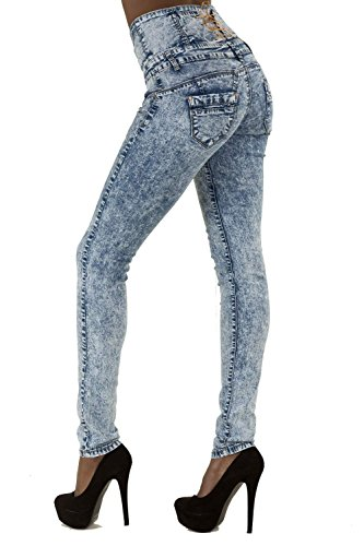 LustyChic Damen Skinny Jeanshose Blau Hellblau Blau - Hellblau