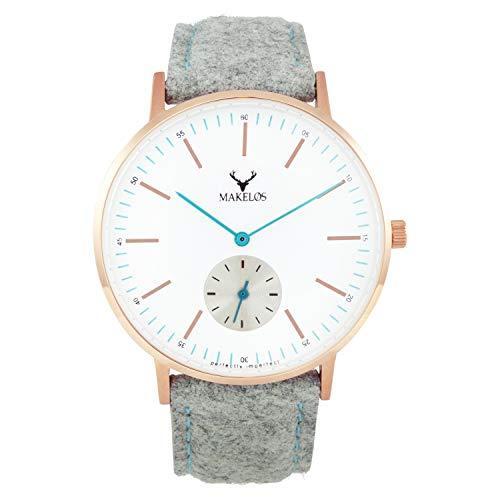 Makelos Armbanduhr Quarz Damen Uhren Frauen Uhren günstige Uhren Coole Uhren mesh Uhren meshband Frauen Uhren armbanduhren für Frauen Uhren für Frauen edle Uhren besondere Uhren Sale Rose Gold