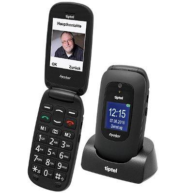 Preisvergleich Produktbild TIPTEL Ergophone 6220 GSM Black 6,1 cm 2,4 Zoll
