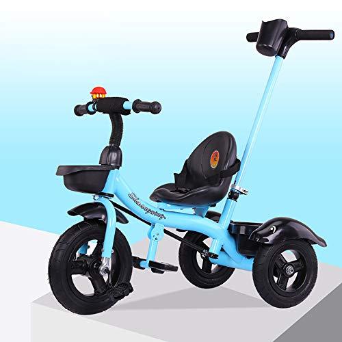 SAHRYTriciclo Bimba,Toys Triciclo Passeggino Pieghevole 3 in 1 con Maniglione Direzionabile per età 12 Mesi - 6 Anni