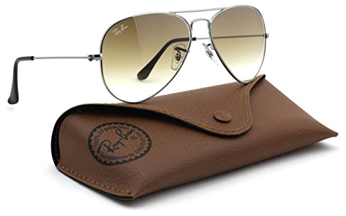 Ray Ban 3025 Aviator RB3025 004/51 58mm gunmetal Frame with Brown Faded Medium