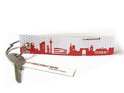 Preisvergleich Produktbild STUTTGART CITY KF REFLEX von 44spaces - Roter Schlüsselanhänger aus reflektierender Folie