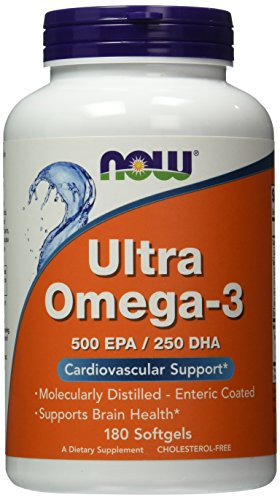 NOW Foods Ultra Omega-3 Fish Oils -180 Softgel Capsules