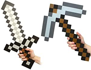 Minecraft Foam Sword & Pickaxe Combo Set Of 2