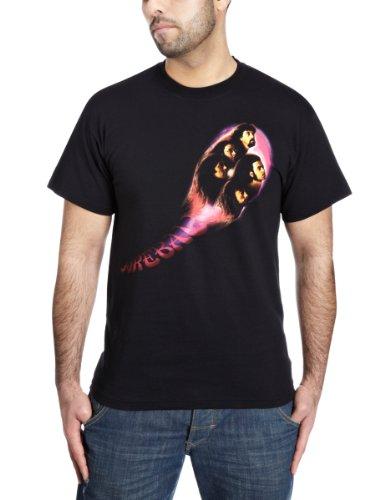 Deep Púrpura Fireball oficial hombre nuevo Negro T Shirt