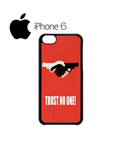 Trust No One Gun Hand Mobile Phone Case Back Cover Hülle Weiß Schwarz for iPhone 6 Plus White Schwarz