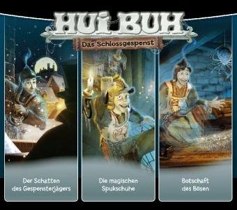 HUI BUH neue Welt Box 02. Spukbox: Folge 4-6: Der Schatten des Gespensterjägers, Die magischen Spukschuhe, Botschaft des Bösen -