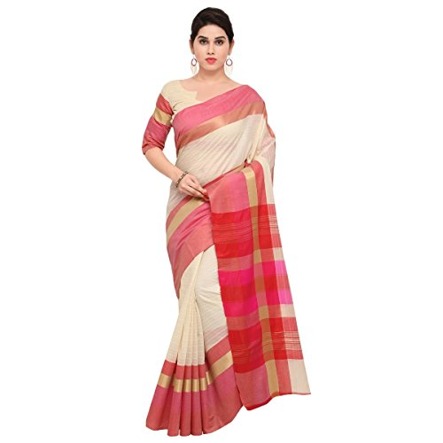Triveni Womens Poly Cotton Woven Festival Beige Colour saree with Blouse -TSNAST1504