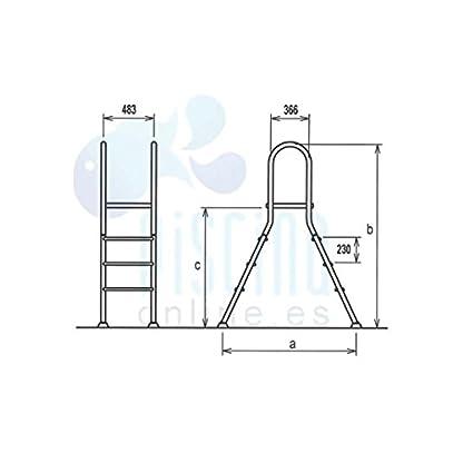 Escalera Puente de acero inoxidable para piscina elevada Flexinox – 87140042 – 4 X 4