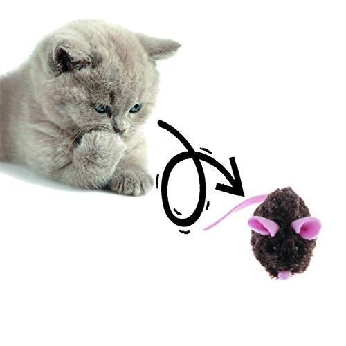 Vealind Gigwi Automatico Moving Mouse Gatto Giocattolo con Suoni realistici