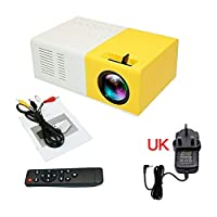 FidgetGear Led Mini Projector Lumihd High Resolution Ultra Portable HD 1080P Home Theater A UK One size