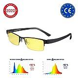 ⭐️KLIM Optics Brillen mit Blaulichtfilter – Hoher Schutz - Gaming Brillen für PC, Handy und Fernseher – Anti-Müdigkeit, Anti-Blaulicht, UV-Schutz 2018 Version