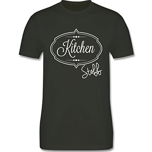 Küche - Kitchen Staff Küchenhelfer - Herren Premium T-Shirt Army Grün