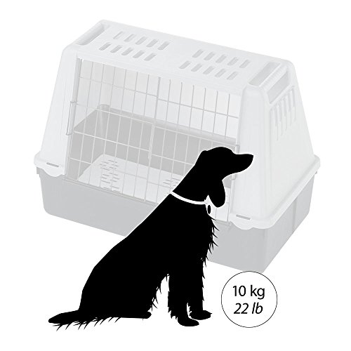 Ferplast 73079021W1 Autotransportbox ATLAS CAR MINI, für Hunde, Maße: 72 x 41 x 51 cm, grau - 6