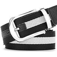 XIANGYINGZHIJIA Belt Belt Fashion Belt Leather Belt Versión Coreana del Cinturón, 125cm, LU657 Negro
