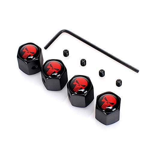 Minleer 4 Pezzi Tappi valvola Anti-furto, Ruota del Pneumatico del Pneumatico Ruota Auto Tappi Auto coperchi Stelo Copertura della Polv
