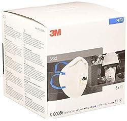 3M Atemschutzmaske 8822SV, FFP2 NR D, 5-er Pack, mit Cool-Flow Ausatemventil, EN-Sicherheit zertifiziert