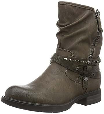 tom tailor damen 1695607 biker boots braun taupe 38 eu. Black Bedroom Furniture Sets. Home Design Ideas