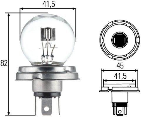 Preisvergleich Produktbild Hella 8GD 002 088-251 Glühlampe,  Hauptscheinwerfer