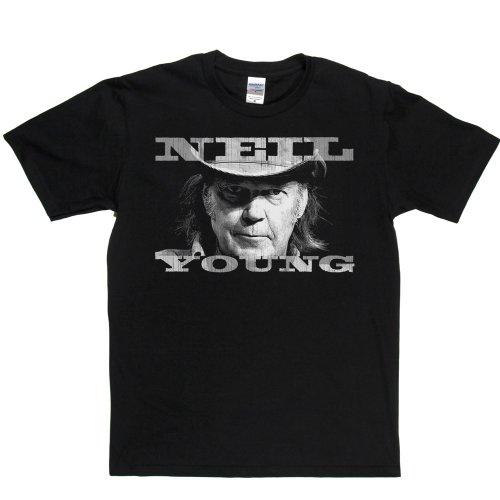 Crazy Horse T-shirt (Neil Young Portrait T-shirt (black/white 3x))