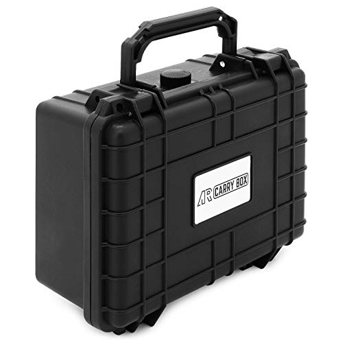 Box Per Esterni Plastica.Ar Carry Box Valigetta Di Protezione In Plastica Per Esterni In Schiuma A Dadi Nera Resistente Alla Polvere E All Acqua
