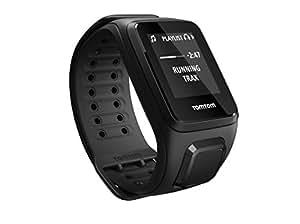 TomTom Spark Music + Casque BT - Montre Fitness GPS - Bracelet Fin Noir (ref 1REM.003.05)