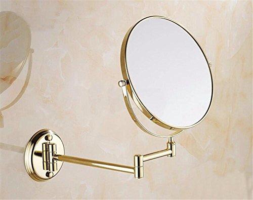 """8"""" Messing Bad Make-up Spiegel Spiegel Double konfrontiert Lupe Bad Kosmetikspiegel Antik/Gold/Chrom/schwarz , 4"""