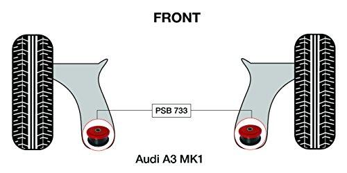 PSB polyuréthane Bush A3 MK1 avant Wishbone arrière forgé Bras bushing kit 1996-2003 (Psb733)