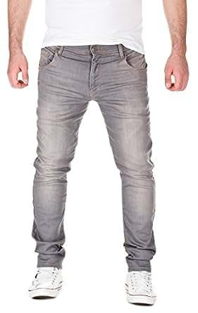 Yazubi homme jogging jean slim fit jogging pantalon sweatpants in jeans look grey used - Jogging homme slim ...
