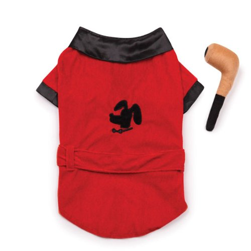 Casual Canine Party Hounds Smoking Hund Jacke Kostüm, m, Rot