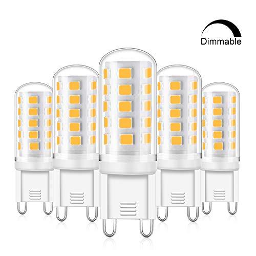 Eco.Luma G9 LED Dimmbar Warmweiß, 4W Led Lampe Ersatz 25W 28W 33W 40W Halogenlampe, G9 Sockel Led leuchtmittel 2700K 420LM Kein Flackern, AC 220 - 240V, 5er Pack