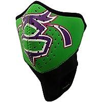 Bula Sleek neopreno Kids Bandana Máscara Facial, color verde, tamaño large