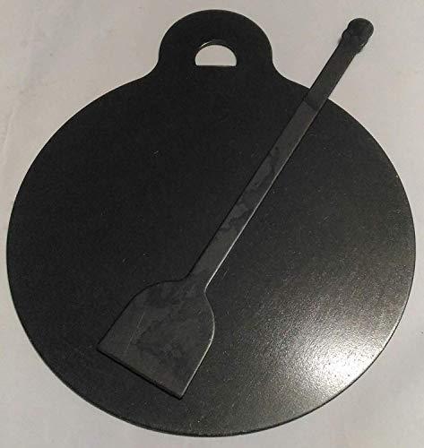 Dhavesai Srisai Naturals Iron Dosa Kallu (Black, 1 kg) with dosa Turner