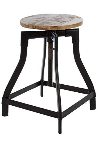 elbmöbel Sitzhocker im Industrial Design braun schwarz hoch Pflanztisch Metall Schminkhocker für...