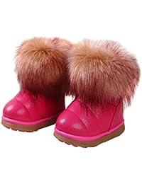 KVbaby Bambine e Ragazze Carino Stivali da Neve Morbide Fodera Calda Stivali  Scarpe di Cotone Piatto 77c8c593da0